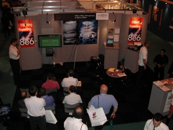Eric giving a presentation in the UK booth - Copy