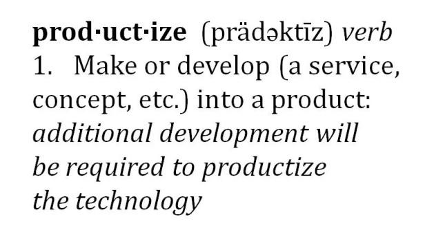 Productize definition