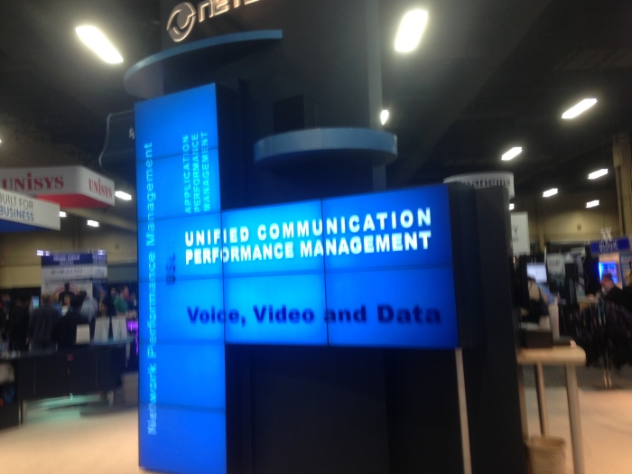 Some booths are built out of displays